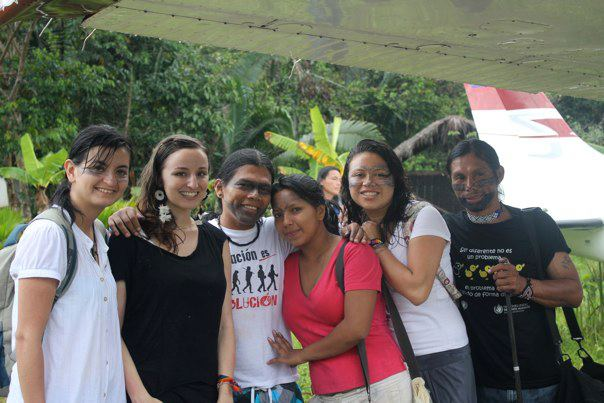 Alejandra (far left) and I last summer in the Kichwa community, Sarayaku.